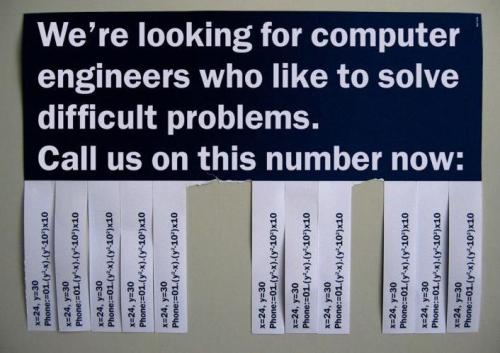 Ad for Geeks. Very clever!