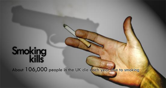 smoking kills poster. anti-smoking posters | Witness
