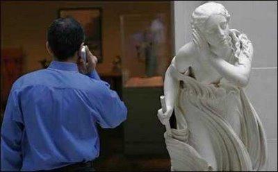 Statue listening in