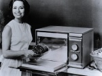 old microwave oven